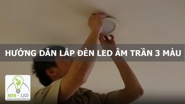 lắp đèn led âm trần