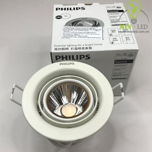 Đèn LED âm trần xoay góc Pomeron Philips