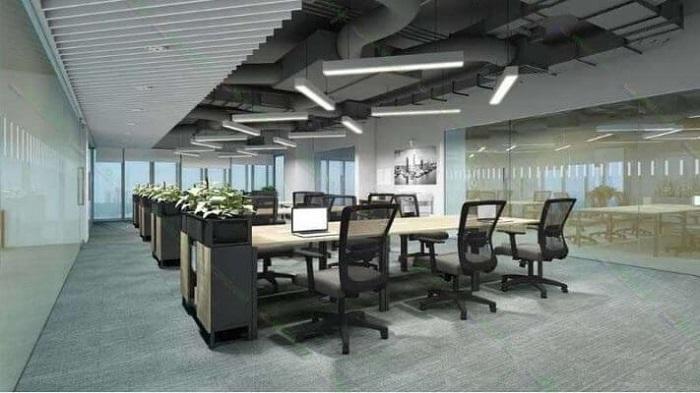 Đèn LED thả trần với tính thẩm mỹ cao dành cho khu vực văn phòng