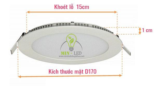 Kích thước đèn Led âm trần bao nhiêu?