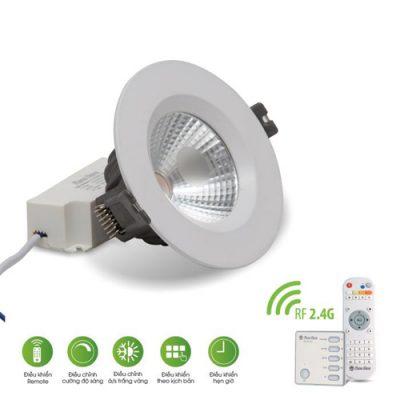 Đèn LED âm trần Rạng Đông COB 7W Remote D AT14L 767W.RF