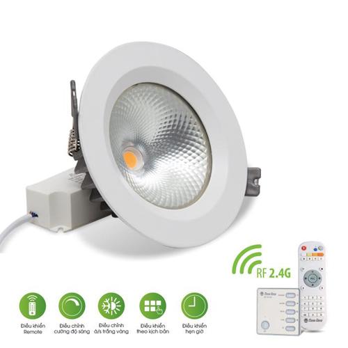 Đèn LED âm trần Rạng Đông COB Remote 9W D AT14L 909W.RF