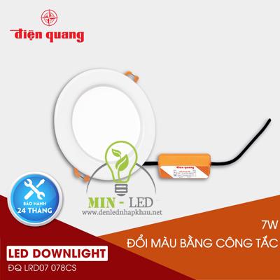Đèn Led âm trần Điện Quang 7W LRD07 đổi màu