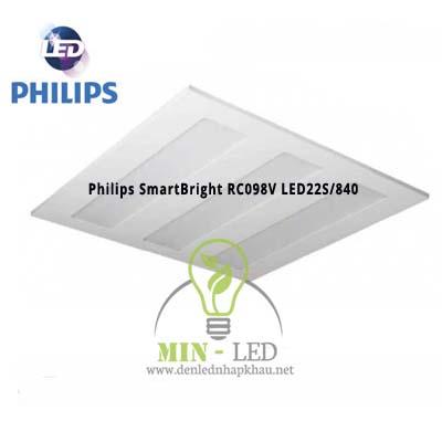 Đèn led âm trần Philips SmartBright RC098V LED22S/840 PCV GM 0.3mx1.2m