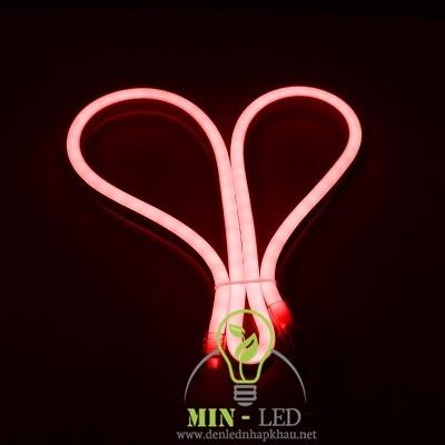 Đèn led dây Duhal 6W NEON bẻ góc hai chiều ánh sáng đỏ 6W/M NED01