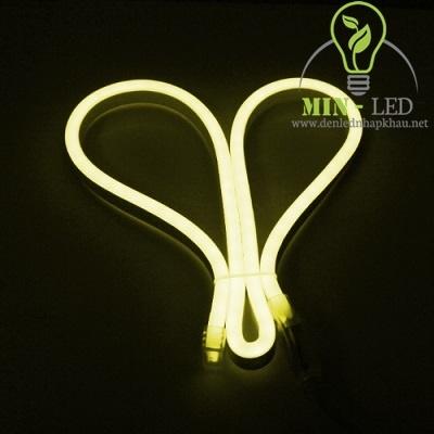 Đèn led dây Duhal 6W NEON bẻ góc hai chiều ánh sáng vàng 6W/M NEV01