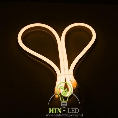 Đèn led dây Duhal 6W NEON bẻ góc hai chiều ánh sáng vàng đồng 6W/M NEV02