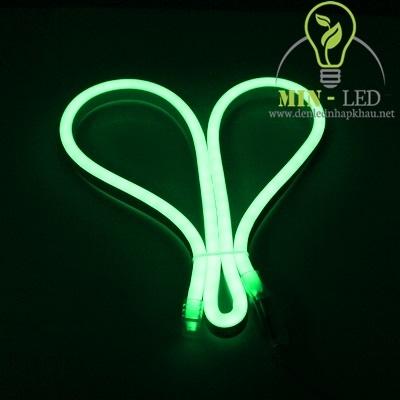 Đèn led dây Duhal 6W NEON bẻ góc hai chiều ánh sáng xanh lá 6W/M NEL02