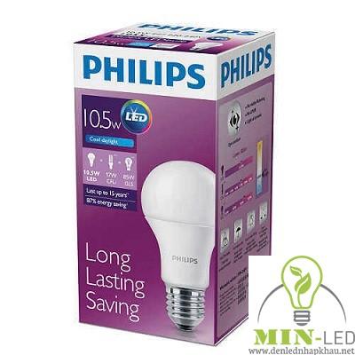 Đèn led Bulb Philips 10.5W E27 6500K/3000K 230V A60