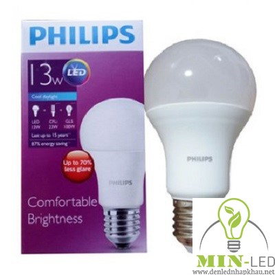 Đèn led Bulb Philips 13W E27 6500K/3000K 230V A60