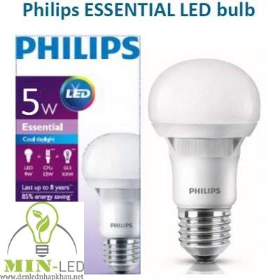 Đèn led Bulb Philips ESS G4 5W E27 A60 APR
