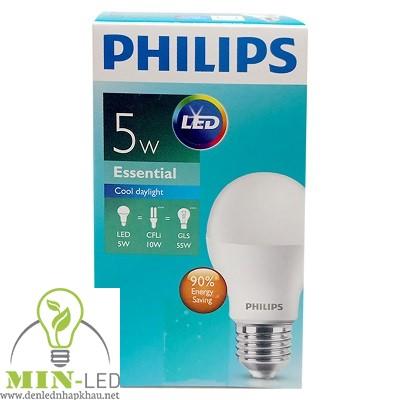 Đèn led Bulb Philips Essential 5W-55W A60