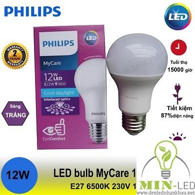 Đèn led Bulb Philips MyCare 12W E27 1CT/12 APR