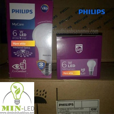 Đèn led Bulb Philips MyCare 6W E27 1CT/12 APR