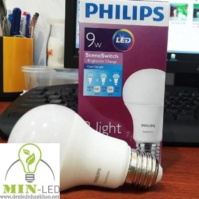 Đèn led Bulb Philips SceneSwitch 9W 3 Step 9 A60