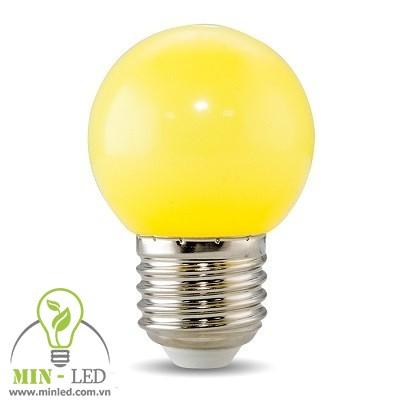 Đèn led Bulb Rạng Đông 1W tròn màu vàng