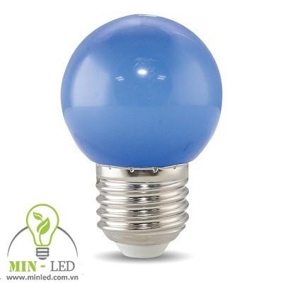Đèn led Bulb Rạng Đông 1W tròn xanh lam