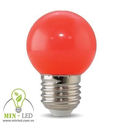 Đèn led Bulb Rạng Đông 1W tròn màu đỏ