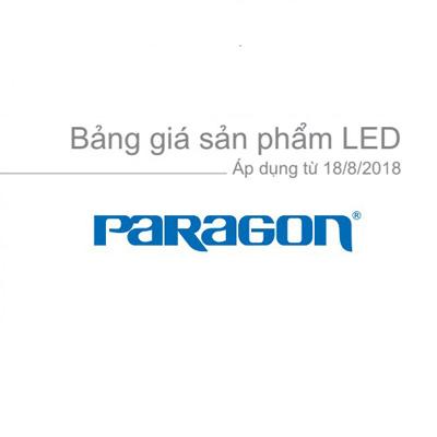 Catalogues đèn LED Paragon 18/8/2018 đầy đủ nhất