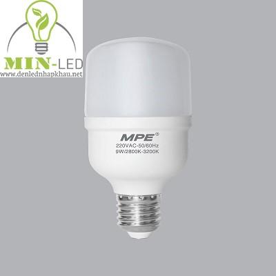 Đèn led Bulb MPE 9W LB-9 trắng, vàng