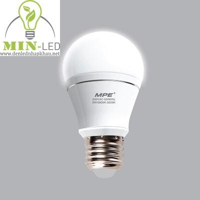 Đèn led Bulb MPE 9W LBA-9V trắng, vàng