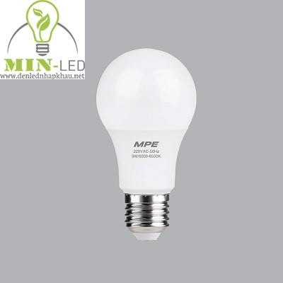 Đèn led Bulb MPE 9W LBD-9 trắng, vàng