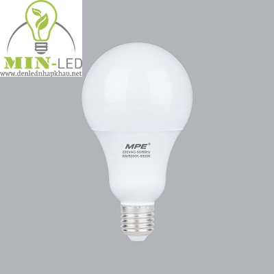 Đèn led Bulb MPE 9W LBL-9 trắng, vàng