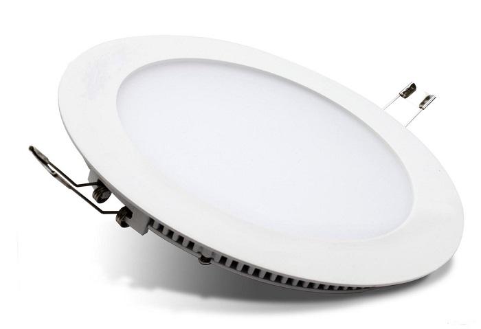Đèn LED âm trần phòng khách tròn với thiết kế truyền thống