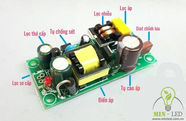 Cấu tạo tăng phô đèn LED