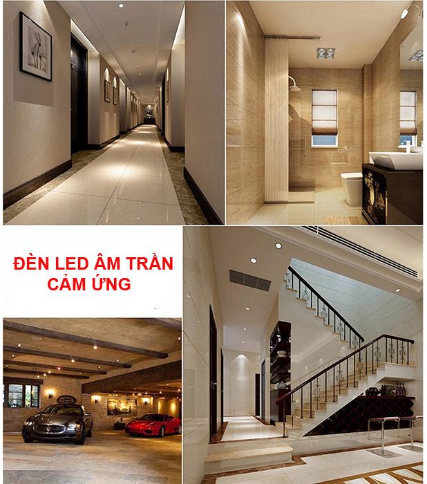 Đèn LED âm trần cảm biến