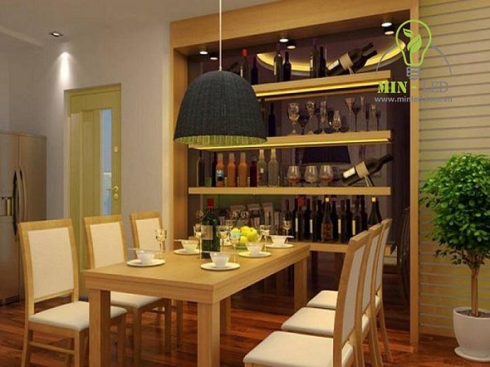 Với ánh sáng dịu nhẹ bạn cũng có thể ứng dụng trang trí với tủ rượu1
