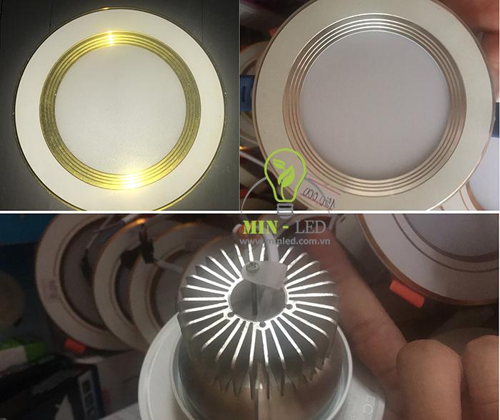 Đèn Led âm trần 90mm giật cấp có viền cấp 4 - kết cấu đặc biệt1
