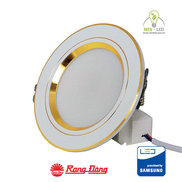 Dòng đèn LED âm trần trang trí viền vàng Rạng Đông có chế độ bảo hành tốt
