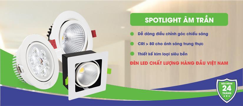 Đèn LED âm trần xoay góc