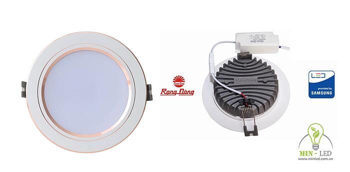 Kích thước đèn downlight âm trầnđế đúc khoét lỗ từ 76 - 110mm