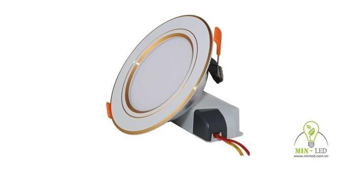 Đèn LED âm trần đế mũ khoét kích thước lỗ trần khoảng 90mm