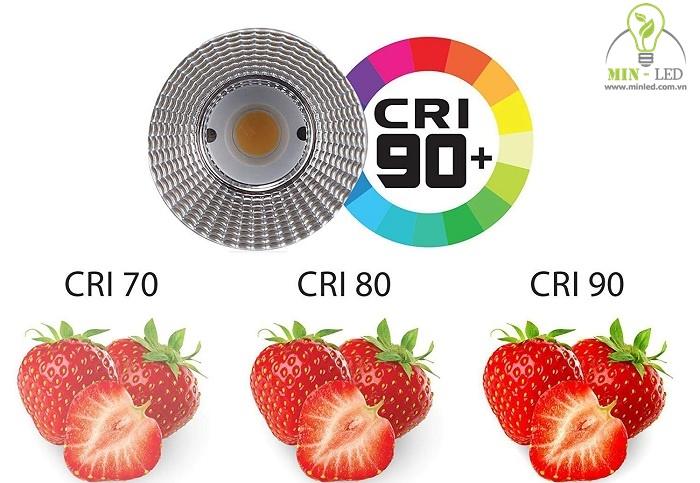 Chỉ số hoàn màu CRI tuyệt vời