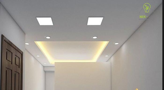 Đèn LED âm trần vuông 18W có thể sử dụng nhiều không gian