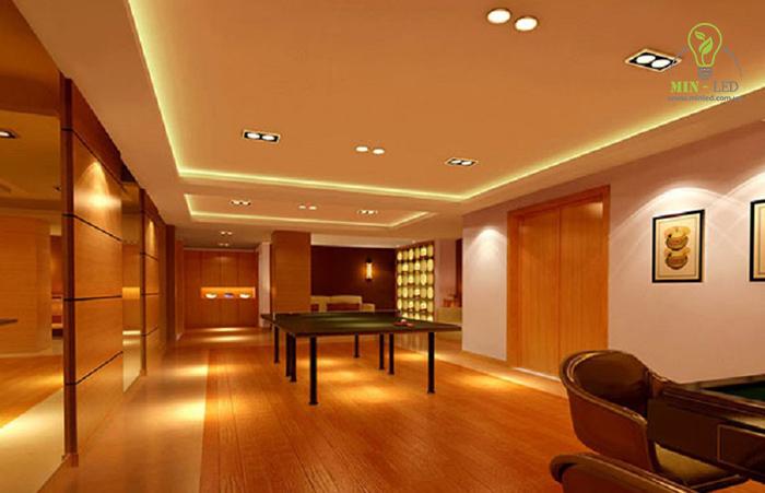 Đèn âm trần đôi có thể sử dụng tại nhiều không gian khác nhau