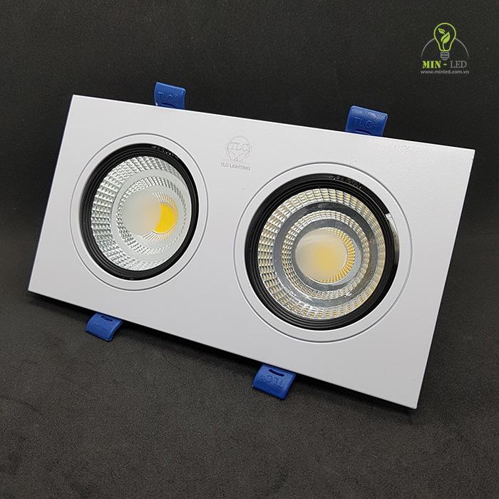 Đèn vuông đôi có thể điều chỉnh góc chiếu sáng