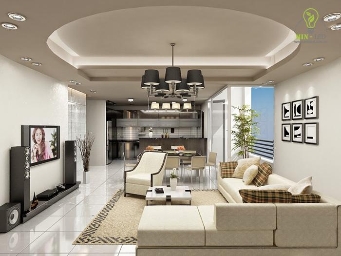 Đèn LED âm trần vuông đôi thích hợp với không gian sử dụng trang trí1