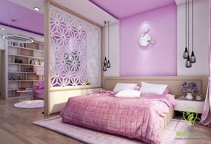bóng đèn rọi trang trí tường phòng ngủ