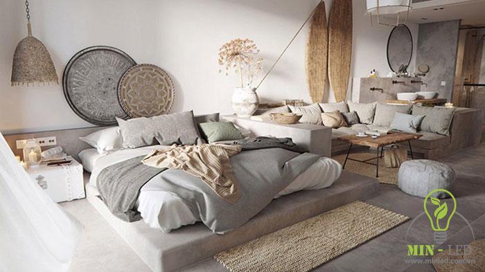 cách trang trí phòng ngủ không có giường 1
