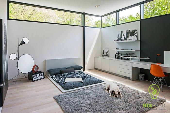 cách trang trí phòng ngủ không có giường 6