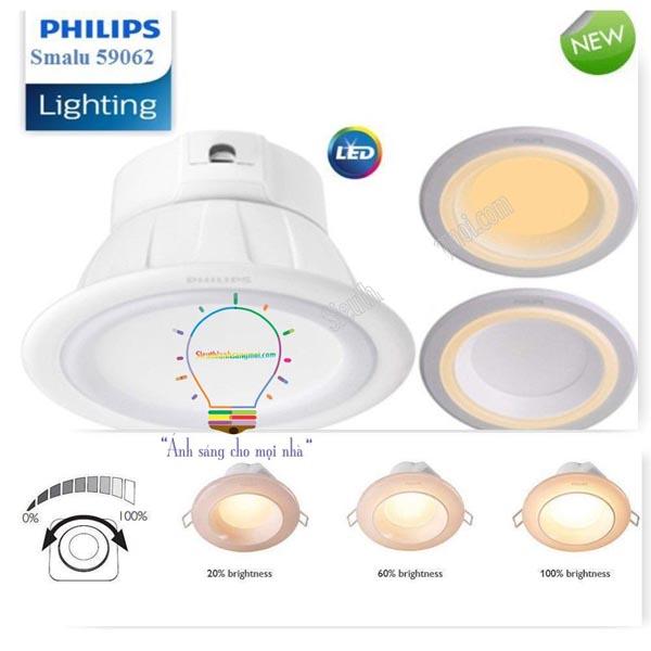 Đèn âm trần Philips Smalu 59062 có Dimmable