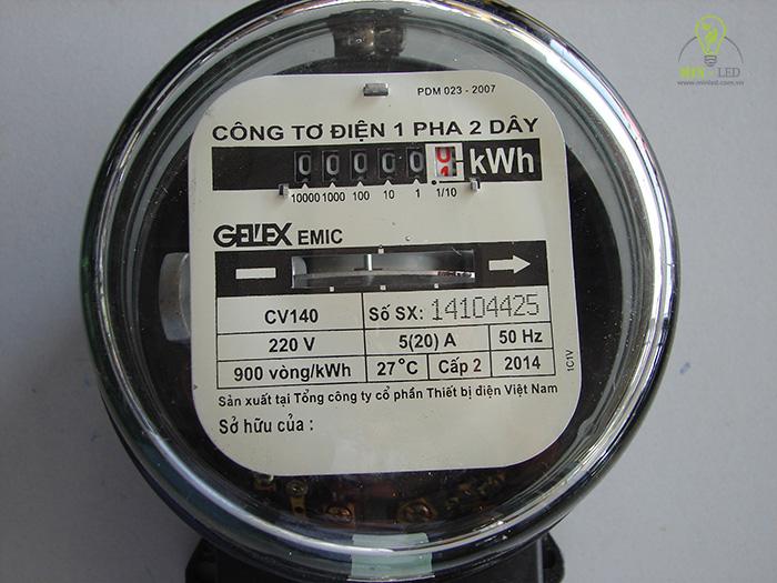 Từ chỉ số Watt của mỗi thiết bị có thể tính được giá tiền điện khi sử dụng trong một khoảng thời gian nhất định