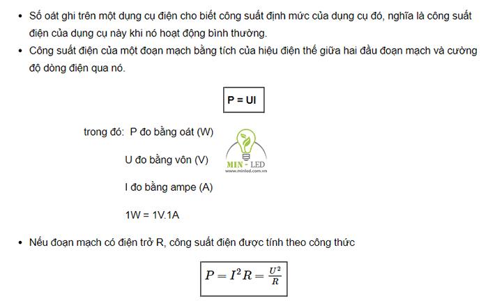 Định nghĩa và công thức tính Watt