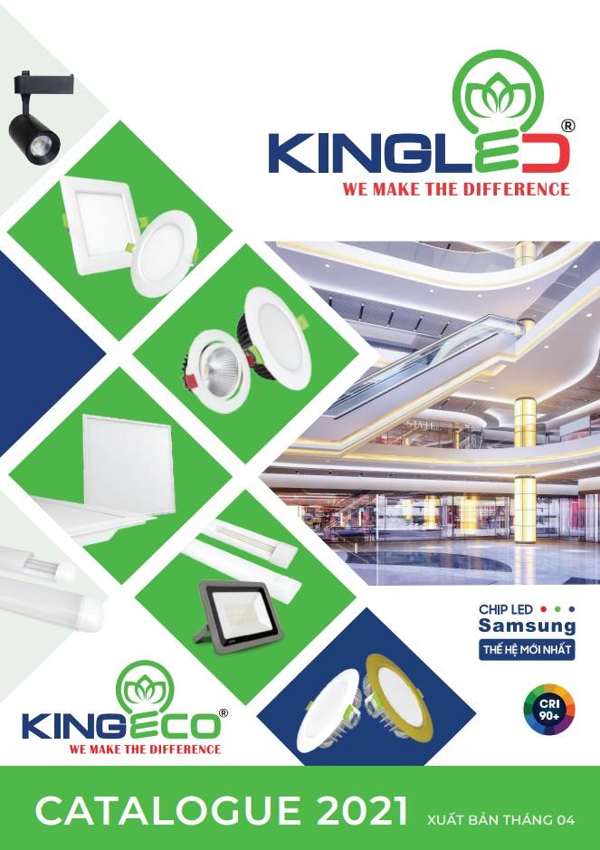 Ảnh bìa catalogues thương hiệu đèn LED KingLed 4/2021