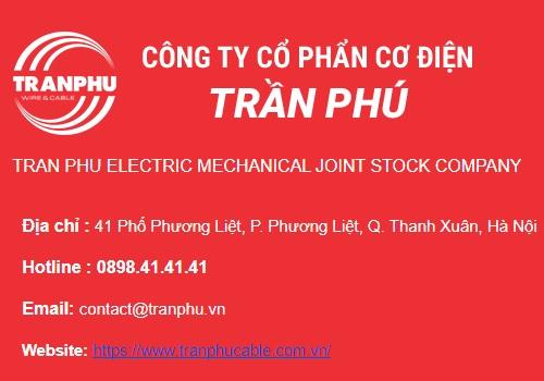 Catalogues dây & cáp điện Trần Phú cập nhật mới nhất 5/2020
