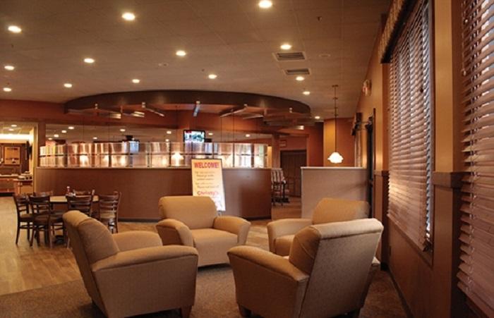 Sản phẩm đèn LED đổi màu Rạng Đông được ứng dụng tại các nhà hàng